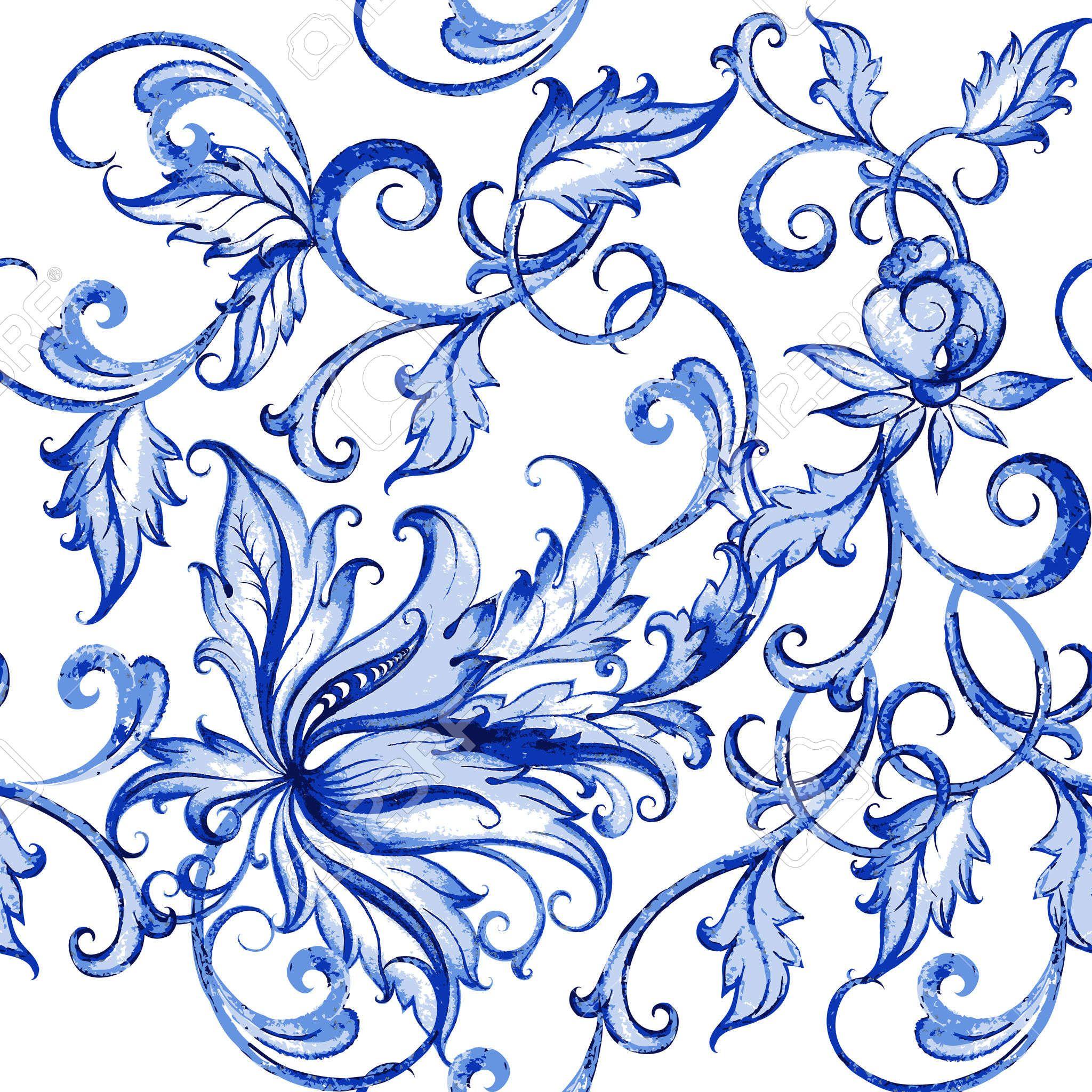 vector acquarello floreale texture con flowerswatercolor