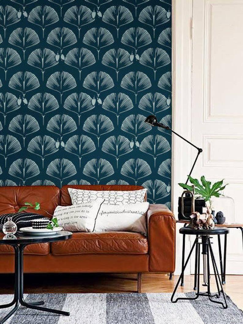 Self adhesive vinyl temporary removable wallpaper, wall