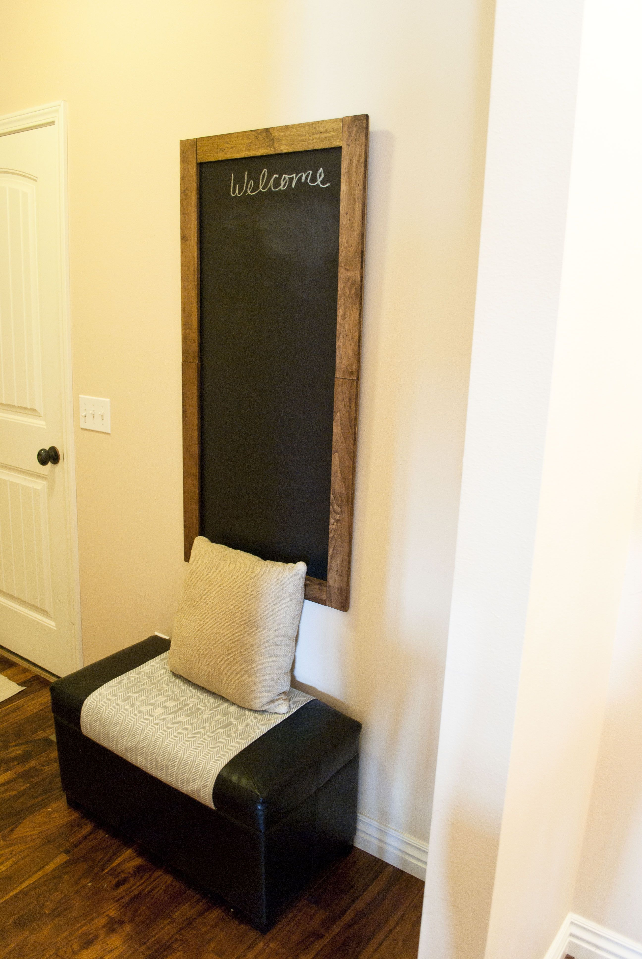 Chalkboard for Entryway / Mudroom. Easy DIY with no painting ...
