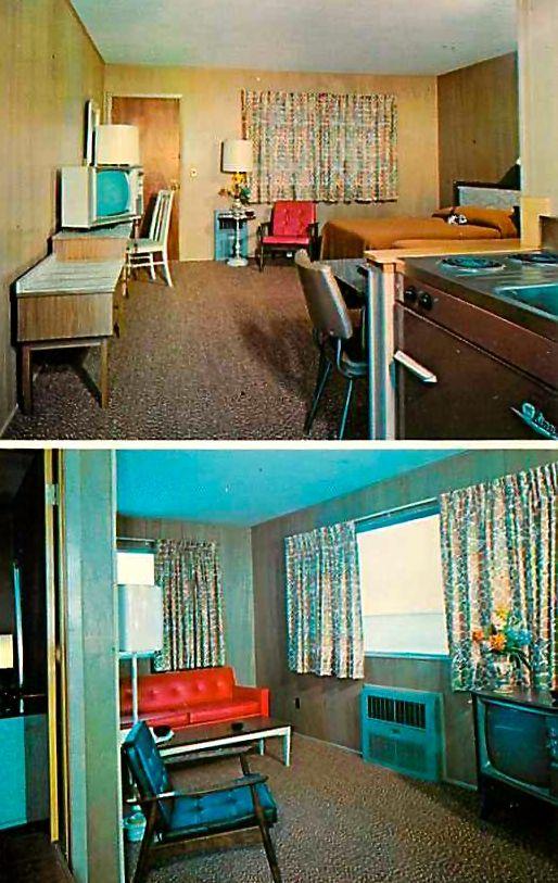 Motel Room Interiors: Dreamers Cove Motel - Aquebogue, New York.