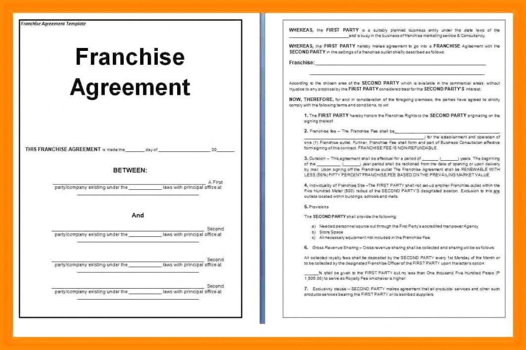 Franchise Agreement Document Sample In 2020 Franchise Agreement