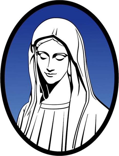 Line Drawing Virgin Mary : Mary mother of jesus vector illustration religious free