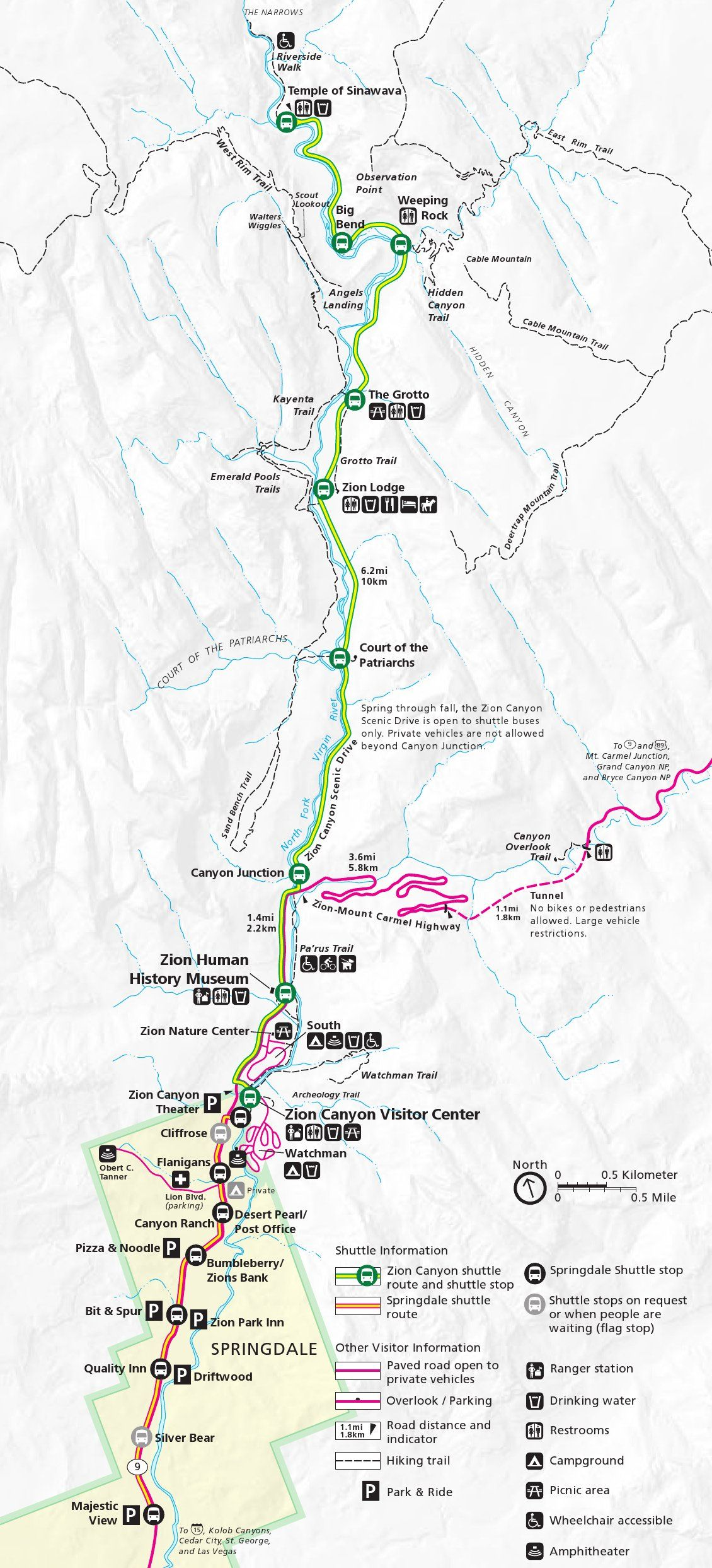 Pin by National Park Maps on Zion National Park Maps Pinterest