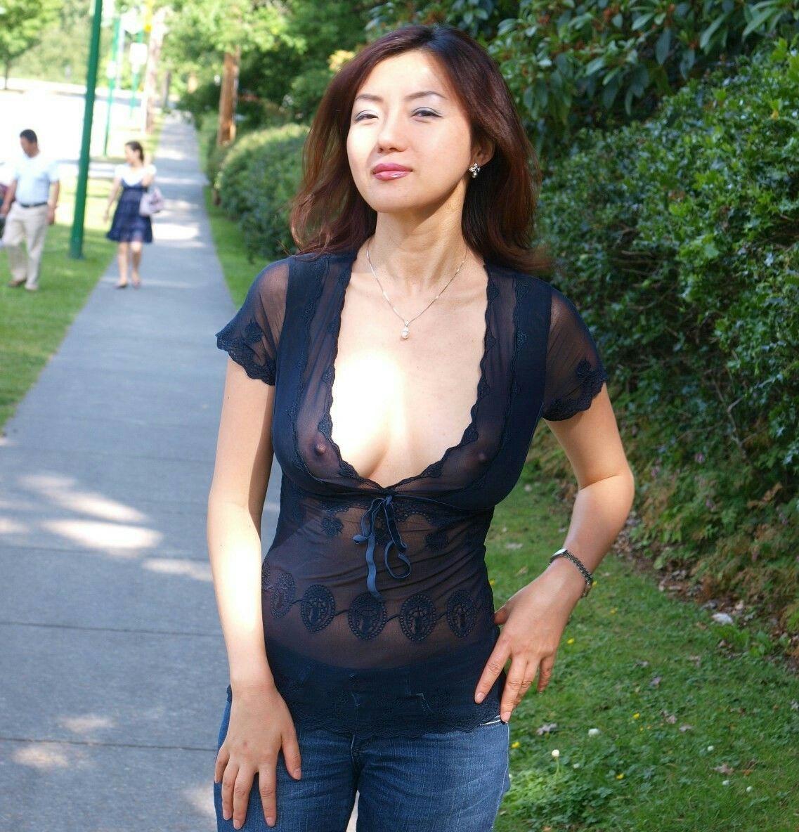 Well Asian women in public
