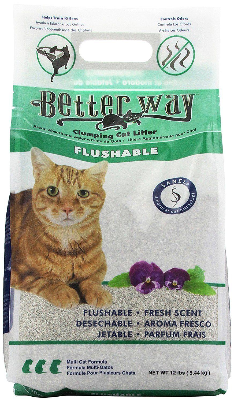 Better Way Flushable Cat Litter, 12 Pound bag >>> Read
