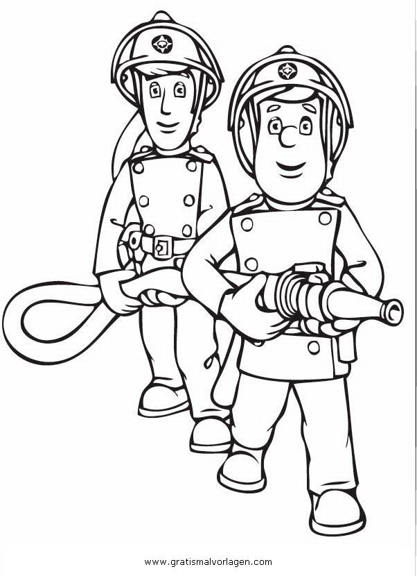 Ausmalbilder Feuerwehr: Ausmalbilder Eurer Lieblingshelden Zum Drucken !!! Kinder