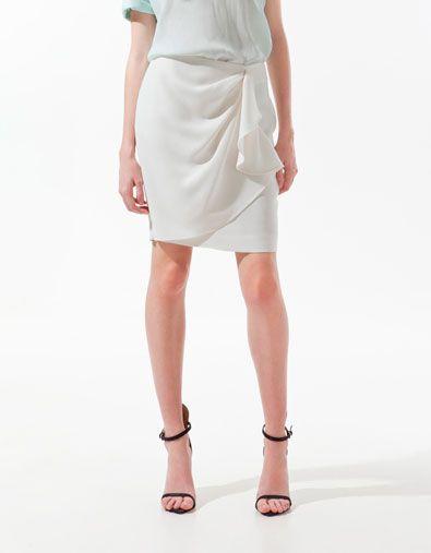 FRONT GATHERED SKIRT - Skirts - Woman - ZARA United States Bought