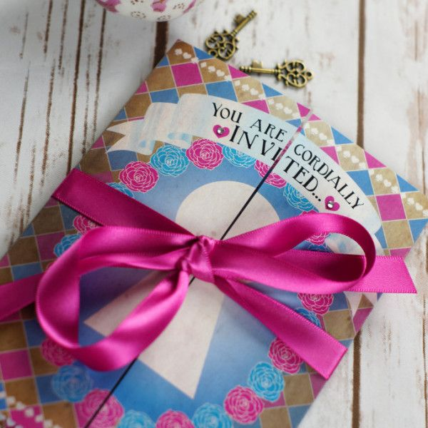Wonderful Whimsical Alice In Wonderland Wedding Invitation 1