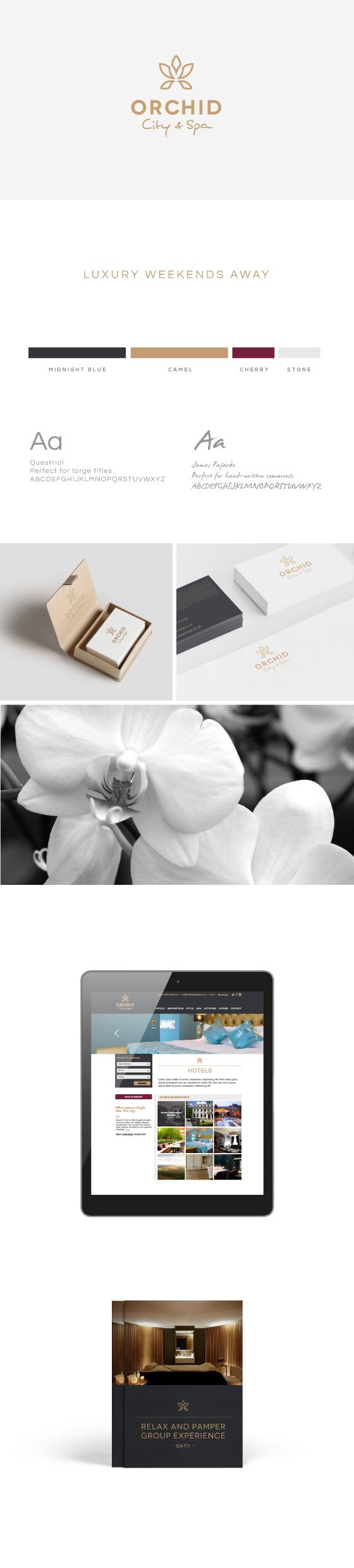 Brand design for orchid city & spa bristol