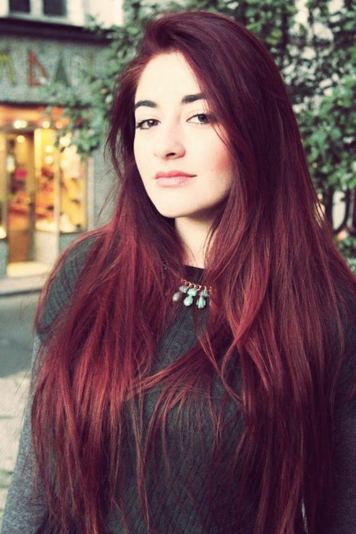 Assez ▷ 1001 idées pour obtenir la couleur de cheveux rouge bordeaux  JX46