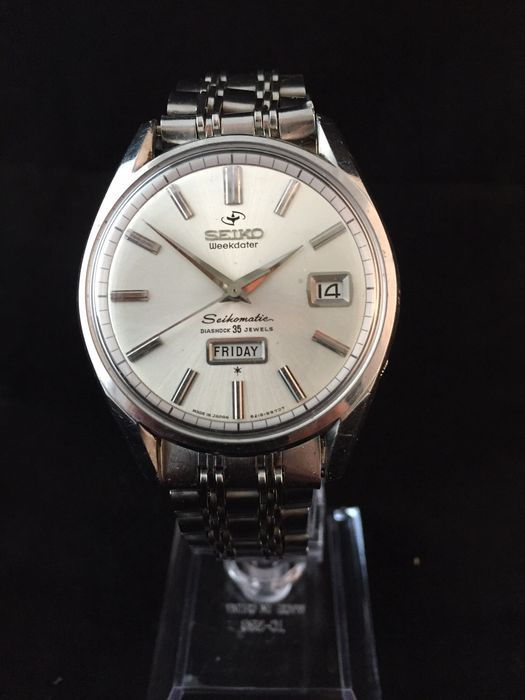 Stunning seiko seikomatic weekdater 35 jewels grand seiko watchlist seiko watches seiko for Celebrity seiko watch
