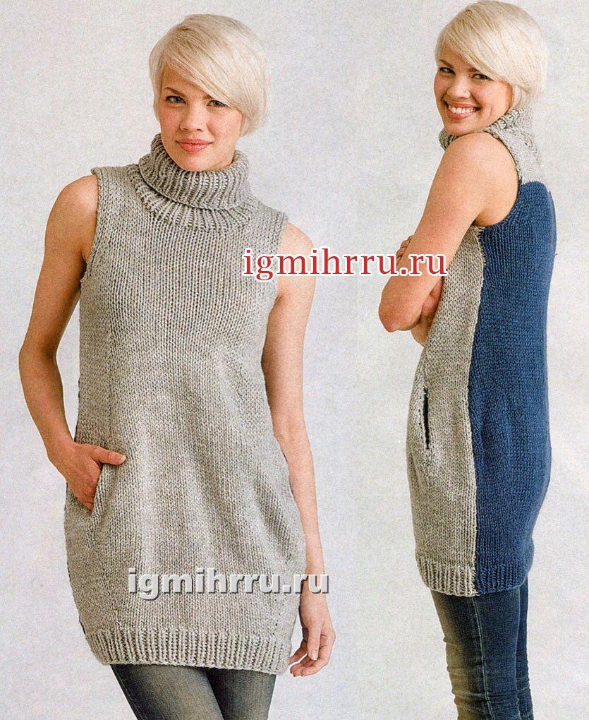 Вязаный женский пуловер с рисунком от дизайнера Eri