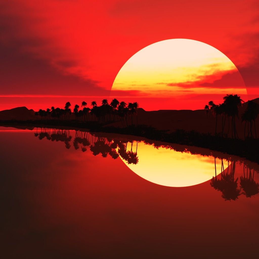 Rosso tramonto sfondo ipad