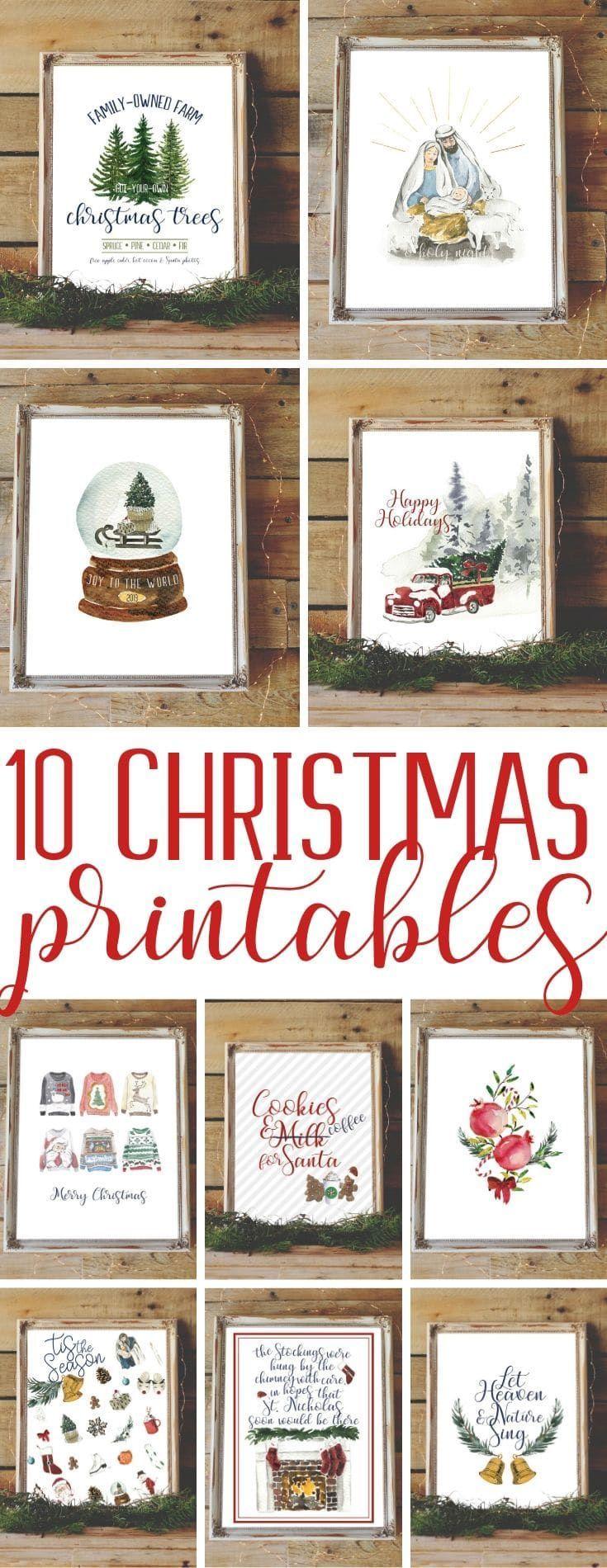 Beautiful Christmas Printables