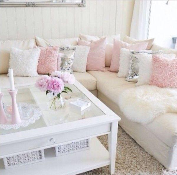 Decoración Ideas usando Rosa y Blanco bedroom ideas Pinterest