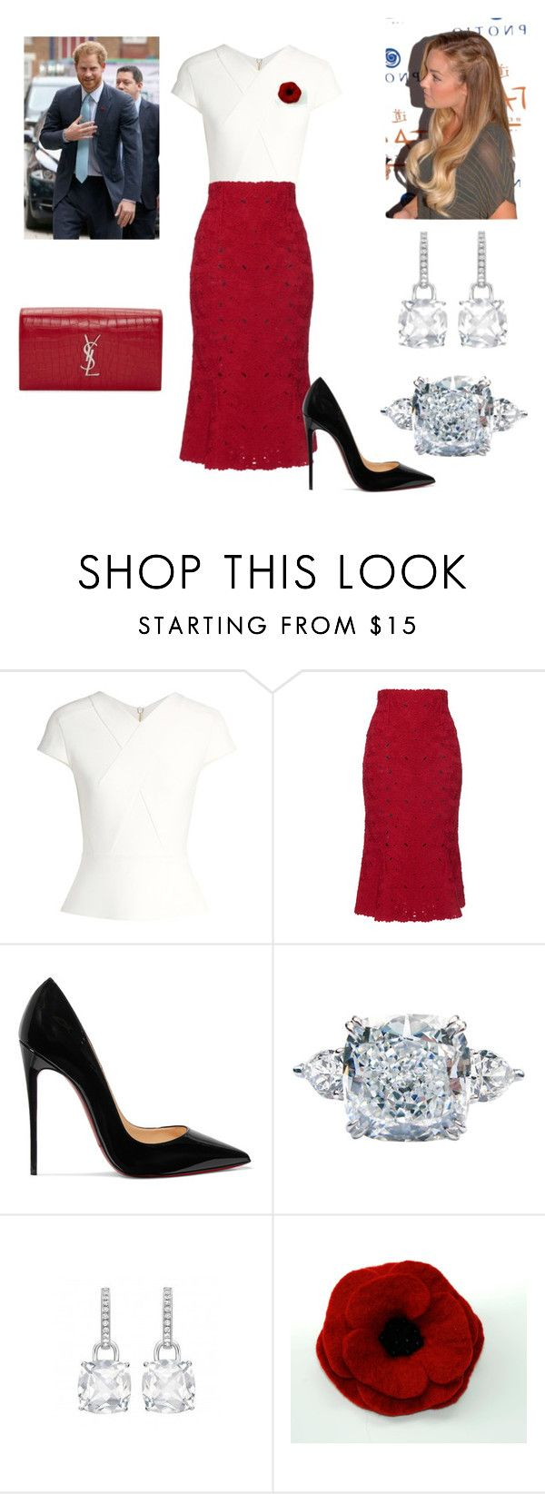 """""""Duke and Duchess at Reception for UK Olympians"""" by royal-fashion ❤ liked on Polyvore featuring Roland Mouret, Lauren Conrad, Salvatore Ferragamo, Christian Louboutin, J. Birnbach and Yves Saint Laurent"""