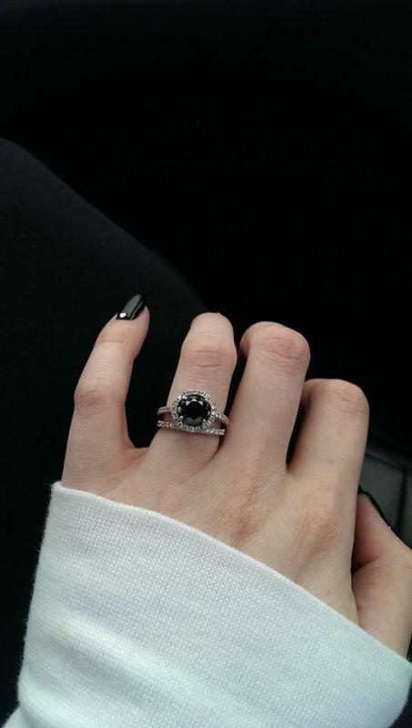 Black Wedding Rings On Hands