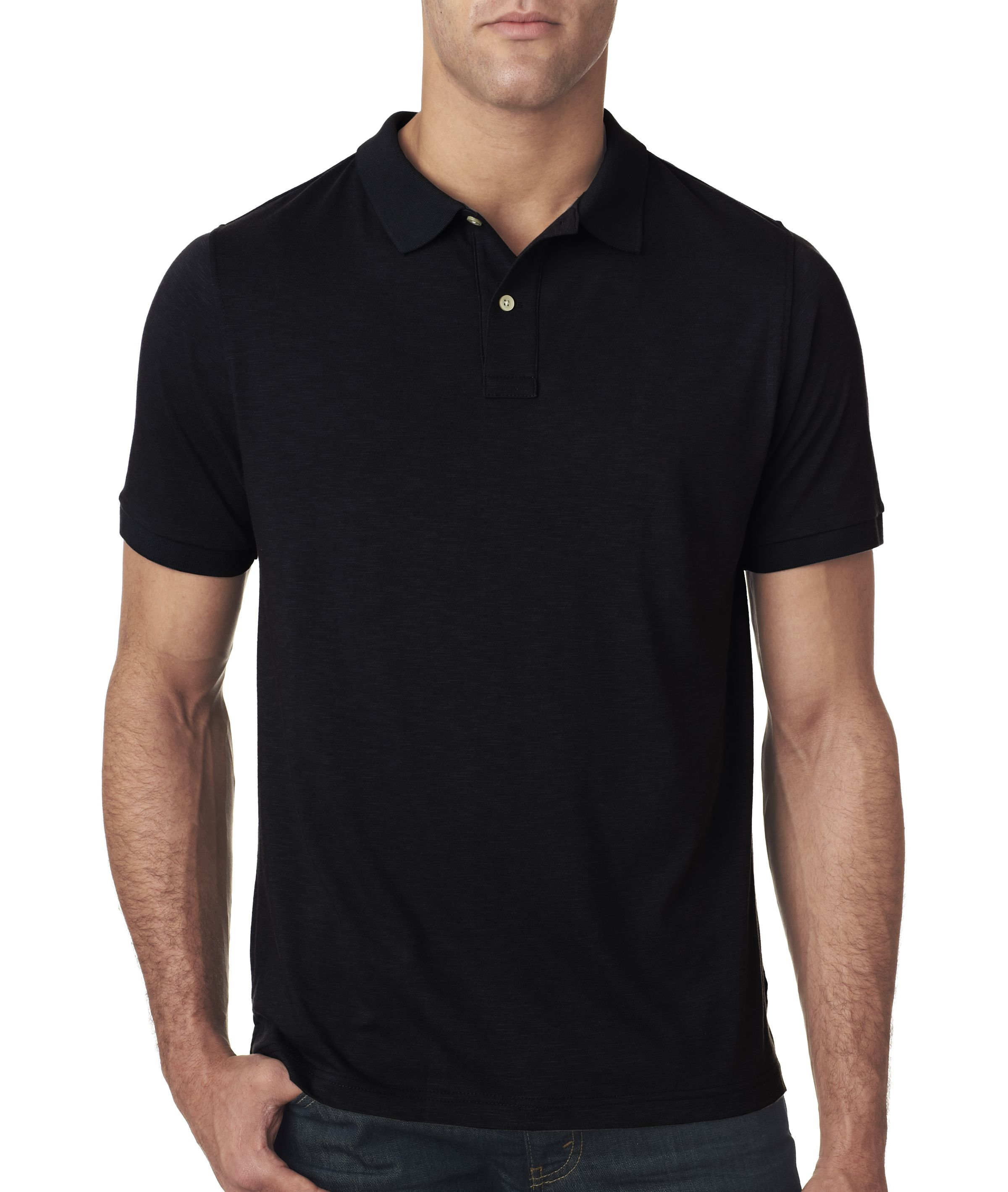 Next level apparel men 39 s slub polo shirt 6420 black for Mens collared t shirts
