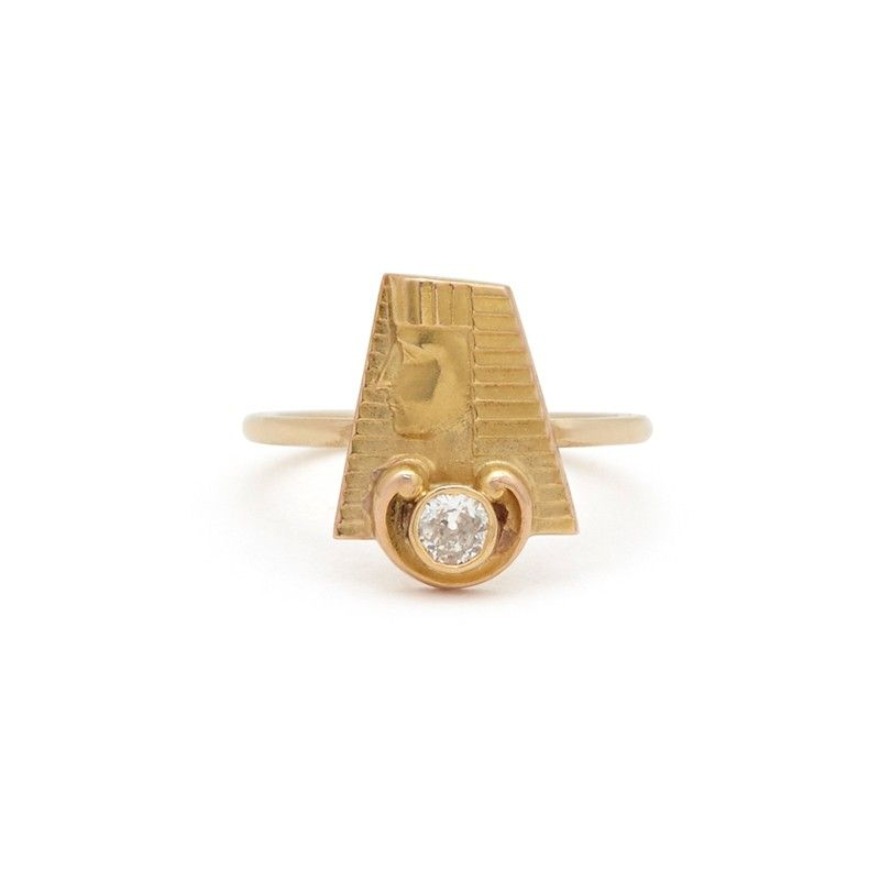 EGYPTIAN REVIVAL OLD MINE DIAMOND RING - All JEWELRY - BY TYPE - SHOP