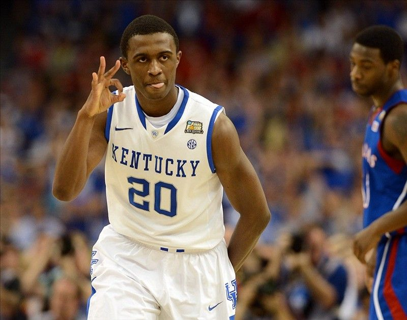 The Kentucky Wildcats are national champions! FINAL: (1) Kentucky 67, (2) Kansas 59. (Photo by US Presswire.)