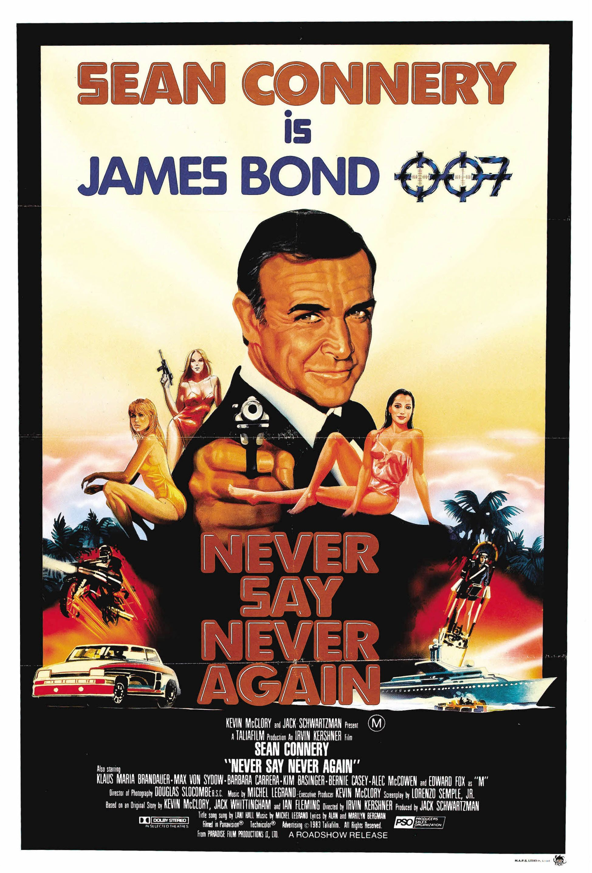 NEVER SAY NEVER AGAIN (1983) (#14) (Sean Connery as James Bond ...