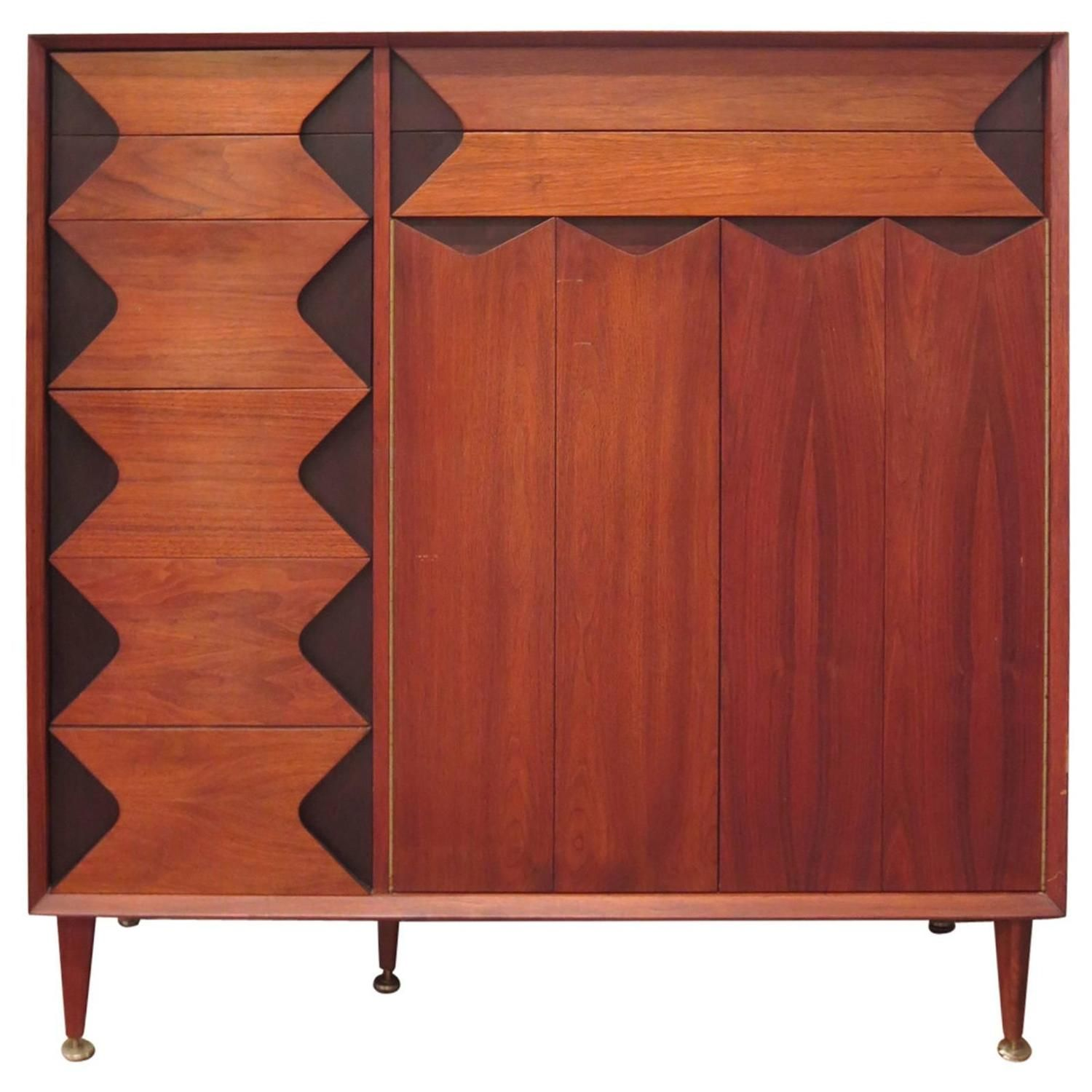 Tall Dresser By Marc Berge For Grosfeld House Dresser Walnut  # Saverio Muebles