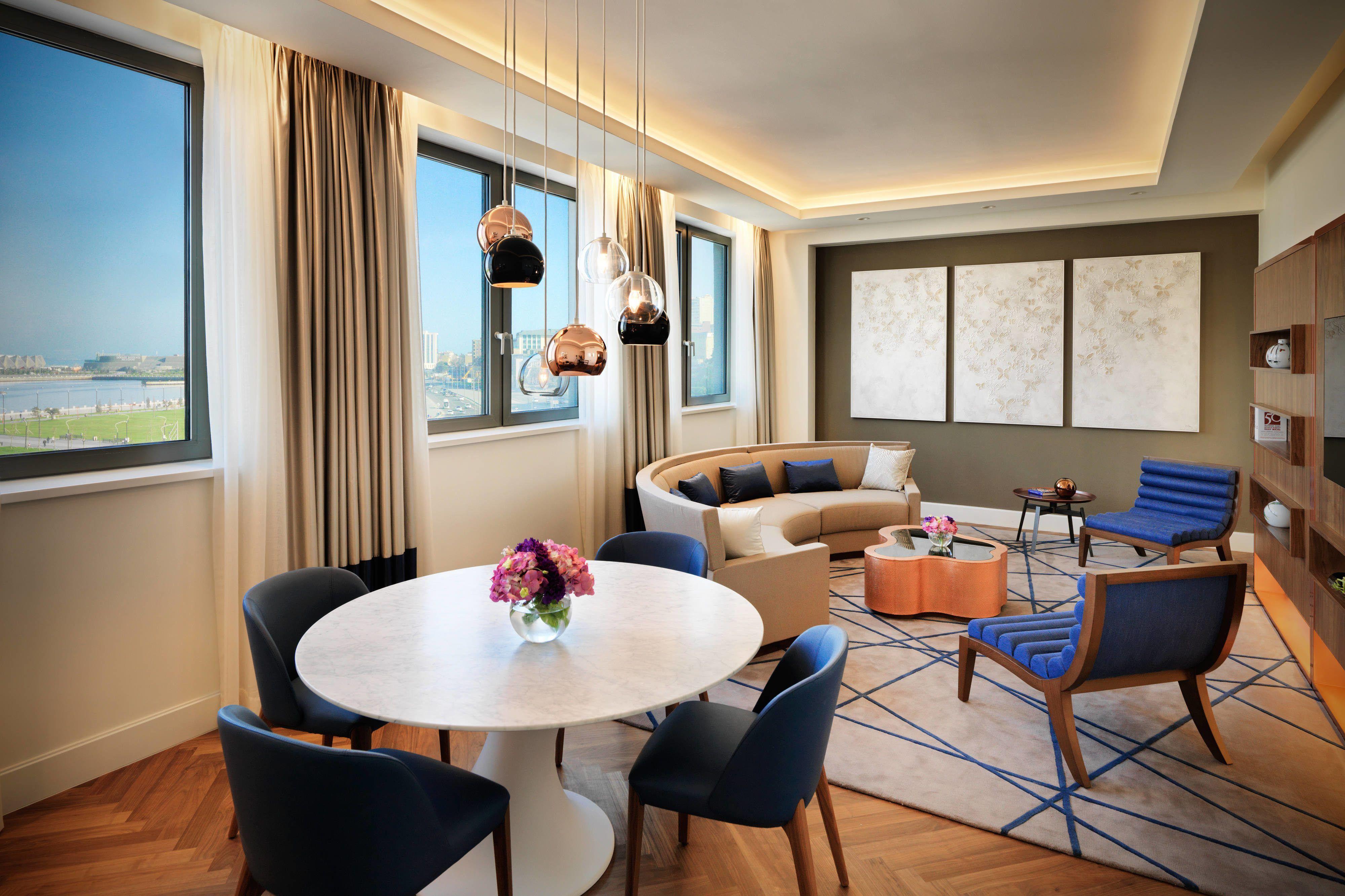 Intourist Hotel Baku Autograph Collection Khazar Suite Living Room Guest Beautiful Traveling Hotel Home Decor Baku