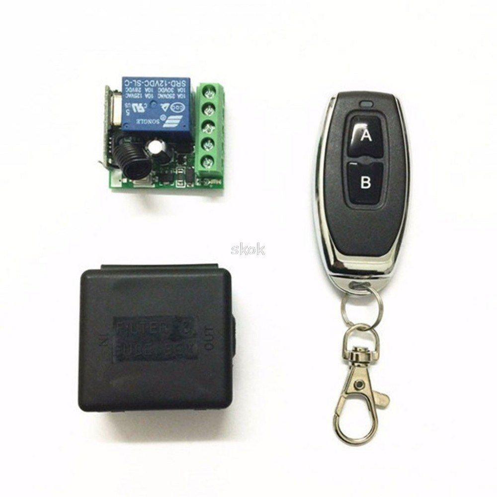 Kr2201 4 Dc 12v 1ch Relay Receiver Module Rf Transmitter 433mhz Wireless Remote Control Switch Jul12 Dropshipping Transmitter Remote Control Remote