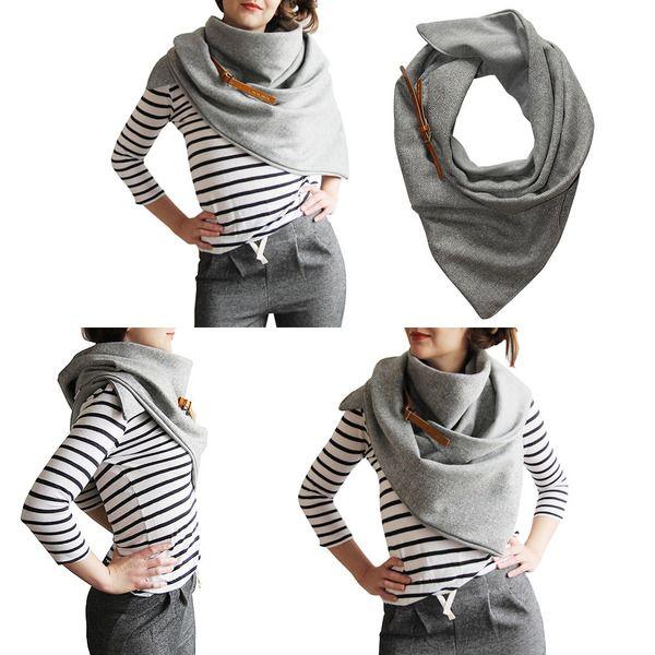 Wrap+Shawl+Snood+Oversize+Unisex+HERRINGBONNE+van+CADO+accessories+op+DaWanda.com