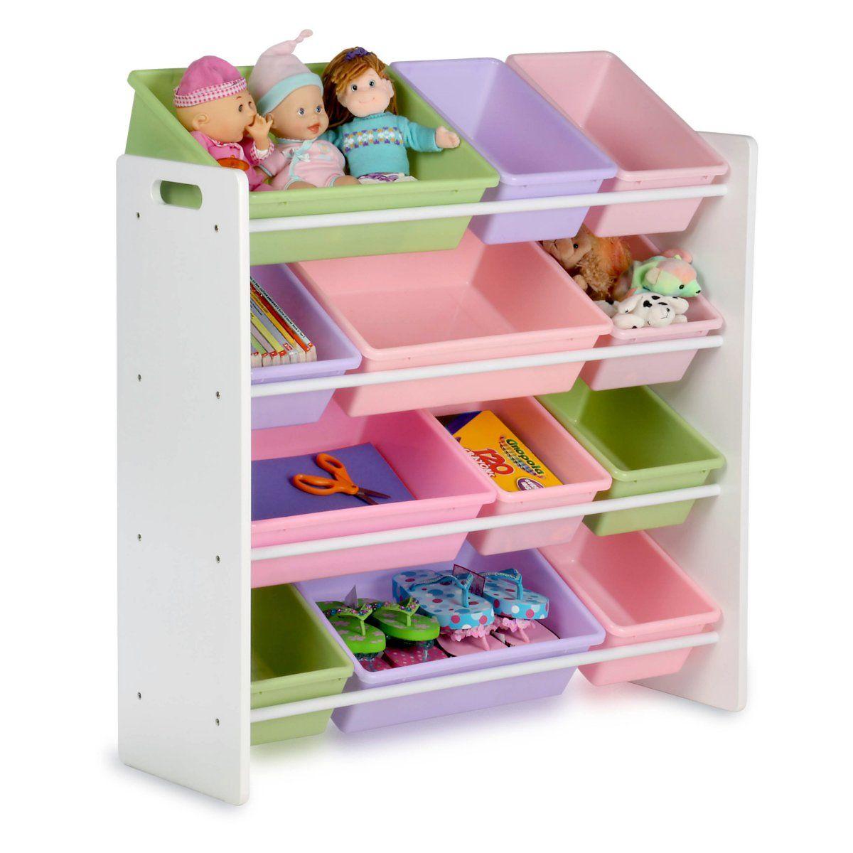 Honey Can Do Kids Storage Organizer 12 Bins White Almacenamiento De Juguetes Para Ninos Organizacion De Juguetes Muebles Para Ninos