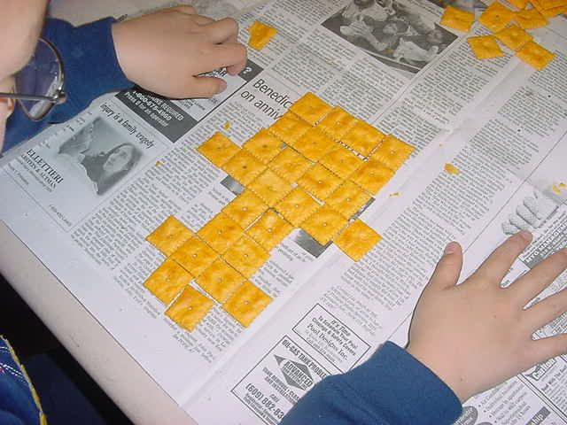 Area and perimeter lesson with Cheez-Its