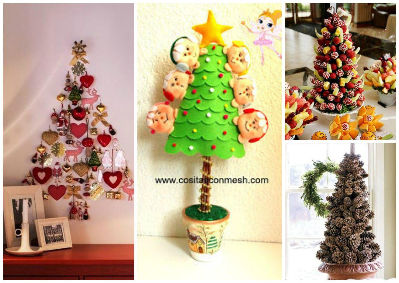 Ideas decorativas para hacer arboles navide os en espacios - Decoracion arboles navidenos ...