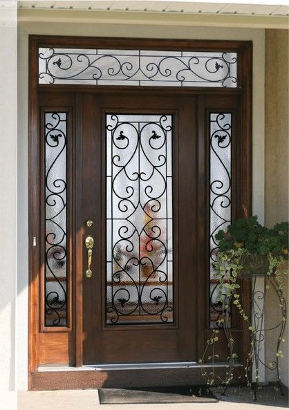 Beautiful Front Doors With Glass | Front Doors With Glass And Wrought Iron