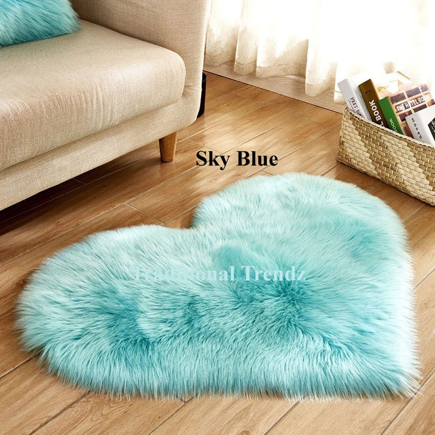 Heart Shaped Artificial Wool Sheepskin Rug Hairy Faux Floor Mat Fur Plain Fluffy Soft Area Rug For Living Room Bedr In 2020 Soft Carpet Plush Carpet Living Room Carpet #soft #area #rug #for #living #room