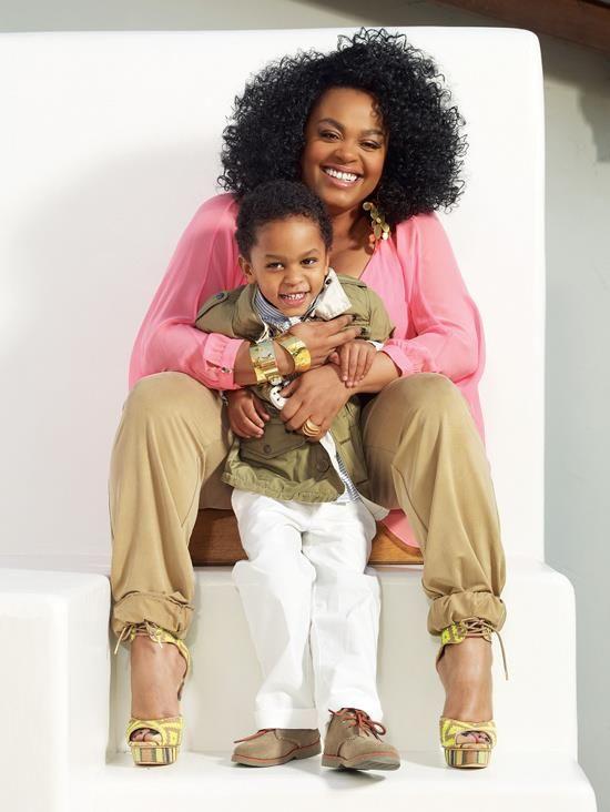 Jill Scott and son Jett Hamilton Roberts for the May 2013 issue of EBONY