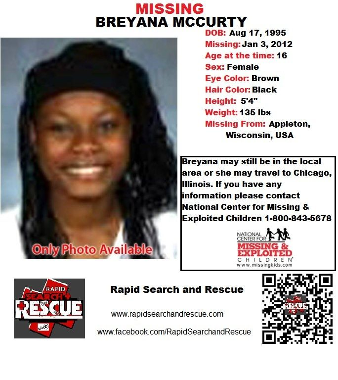 Current Missing Person flyers from Wisconsin in the 2010s To assist