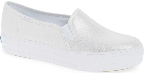 2dc9671731c Keds Triple Decker Metallic L in On Sneaker in Metallic. Breathable linen  with a metallic sheen brings sun-ready freshness to the upper of a classic  sneaker ...