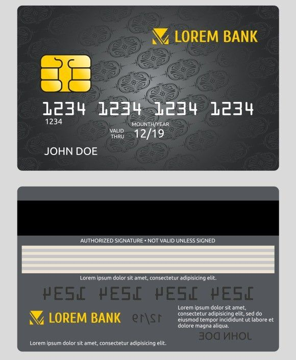 Commercial bank credit card isolated Creative Business Card