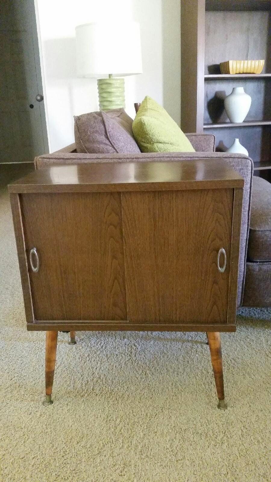 Mid century vintage record cabinet  | Ernie's Mid Century Finds
