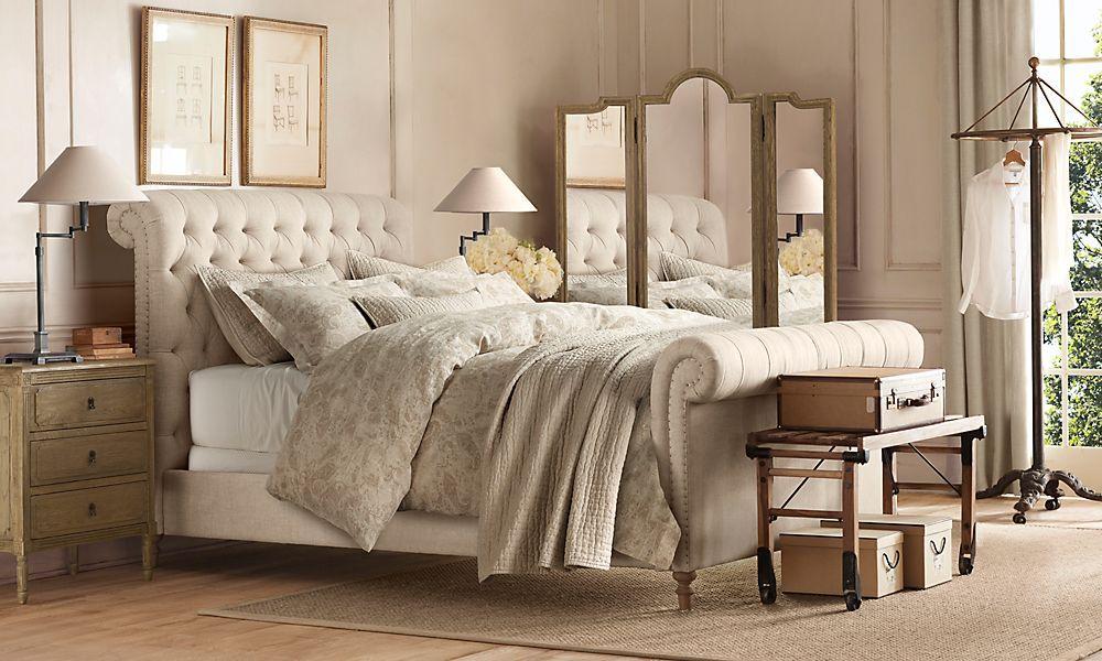 Restoration Hardware Bedroom | Grey, white, black ...