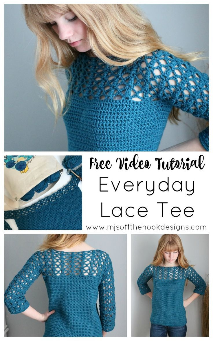 Crochet Everyday Lace Tee