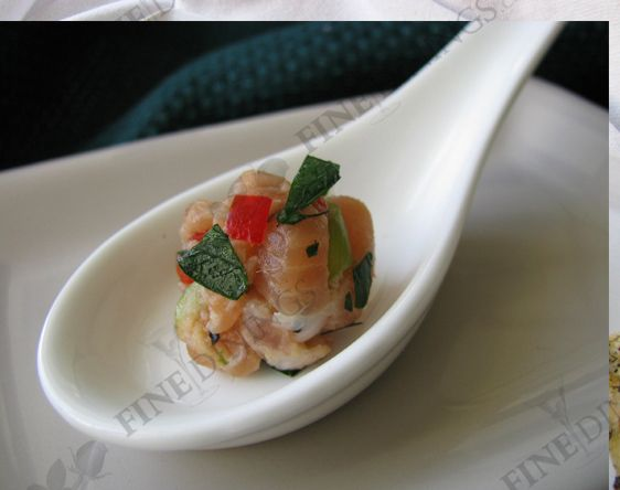 Salmon Tartare Amuse Bouche Salmon Tartare Gourmet Appetizers Dinner Menu Recipes