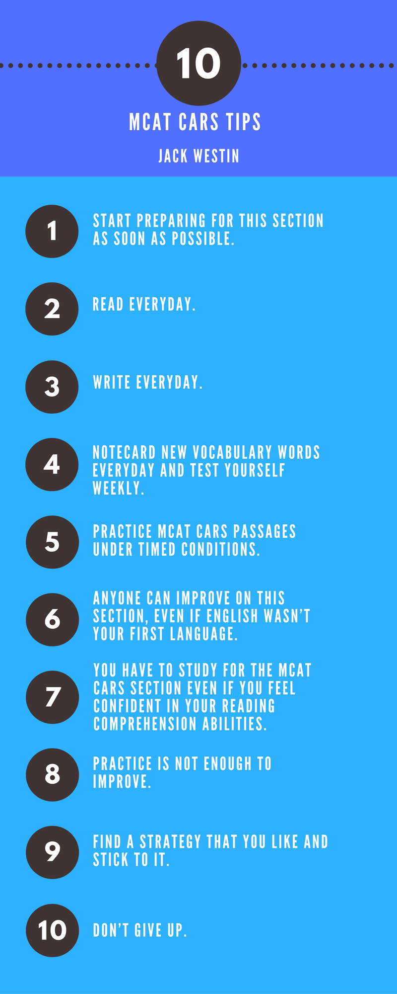 Top MCAT CARS Tips to help you study Mcat, Tips, Pre med