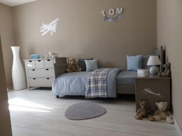 1000 images about dco chambre garon on pinterest - Chambre Bleu Taupe
