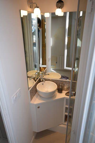 Miniature Chambre De Bonne Parsienne Paris 05 9m2 Paris 05 Aurore Pannier Decorateur D Interieur Amenagement Salle De Bain Chambre De Bonne 9m2