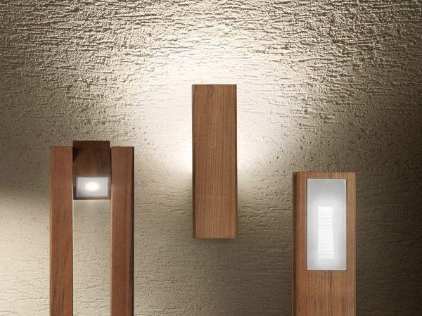 Lampada da parete in teak legno style q wall lombardo home