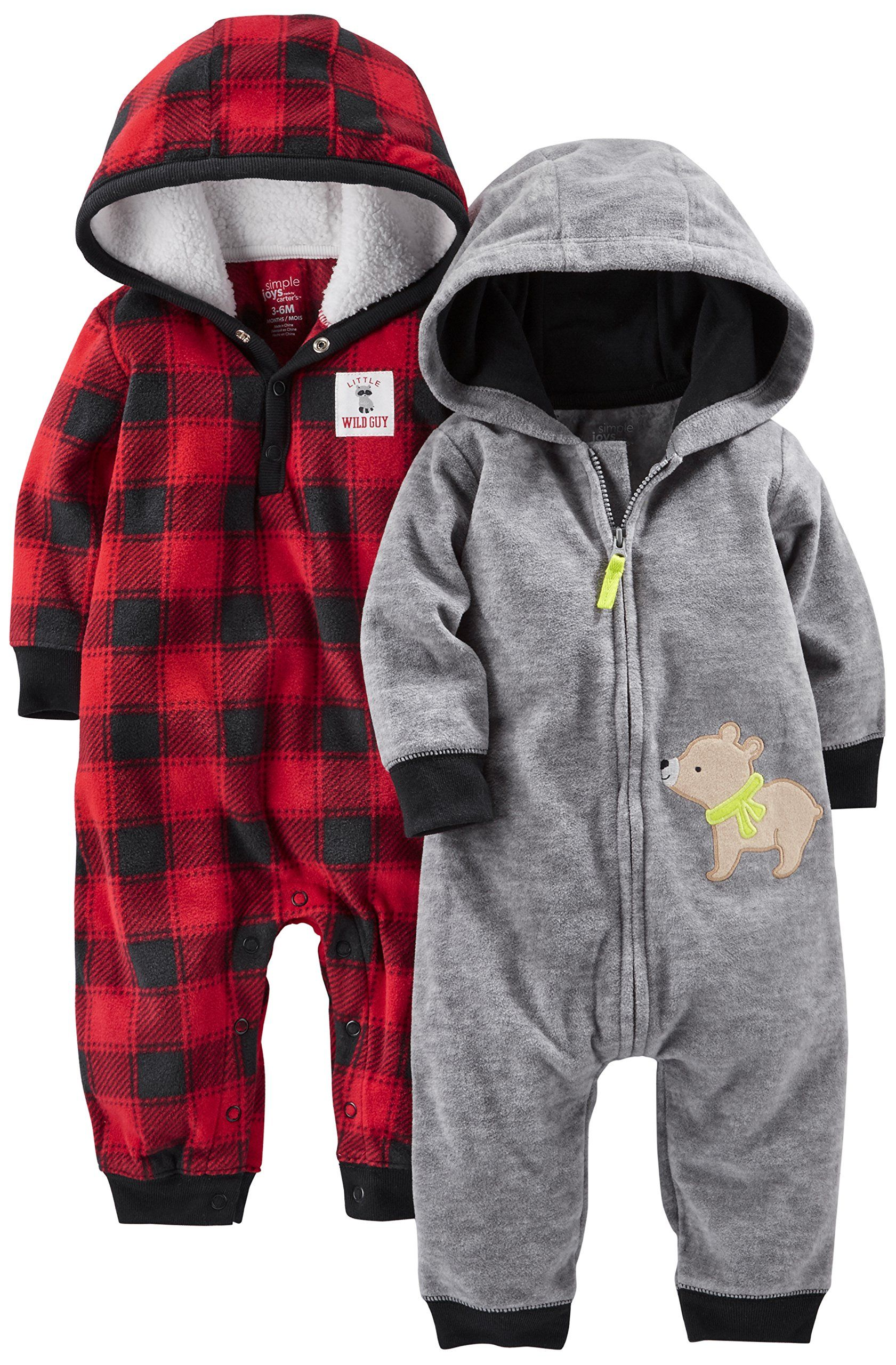 Infant-and-Toddler-Pants beb/és ni/ños Simple Joys by Carters 2-Pack Pull On Fleece Pants