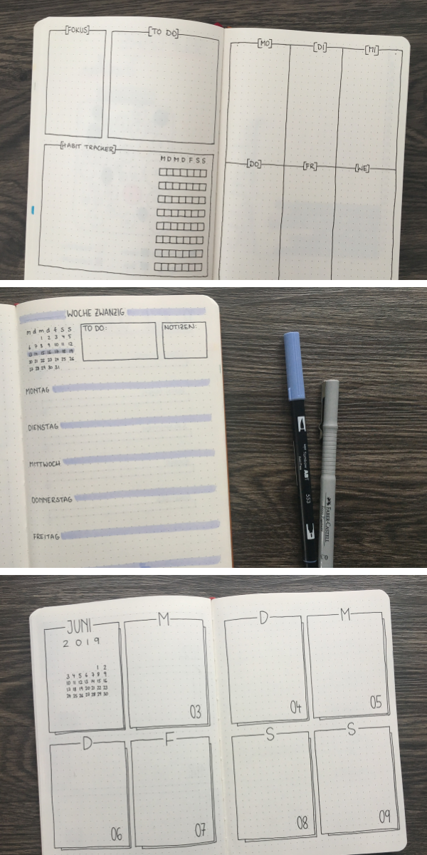 13 minimalistic weekly overviews for your Bullet Journal point Checkedbullet