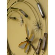 "Contemporary Metal Wall Art ""Dragonfly Swirl Rush"""