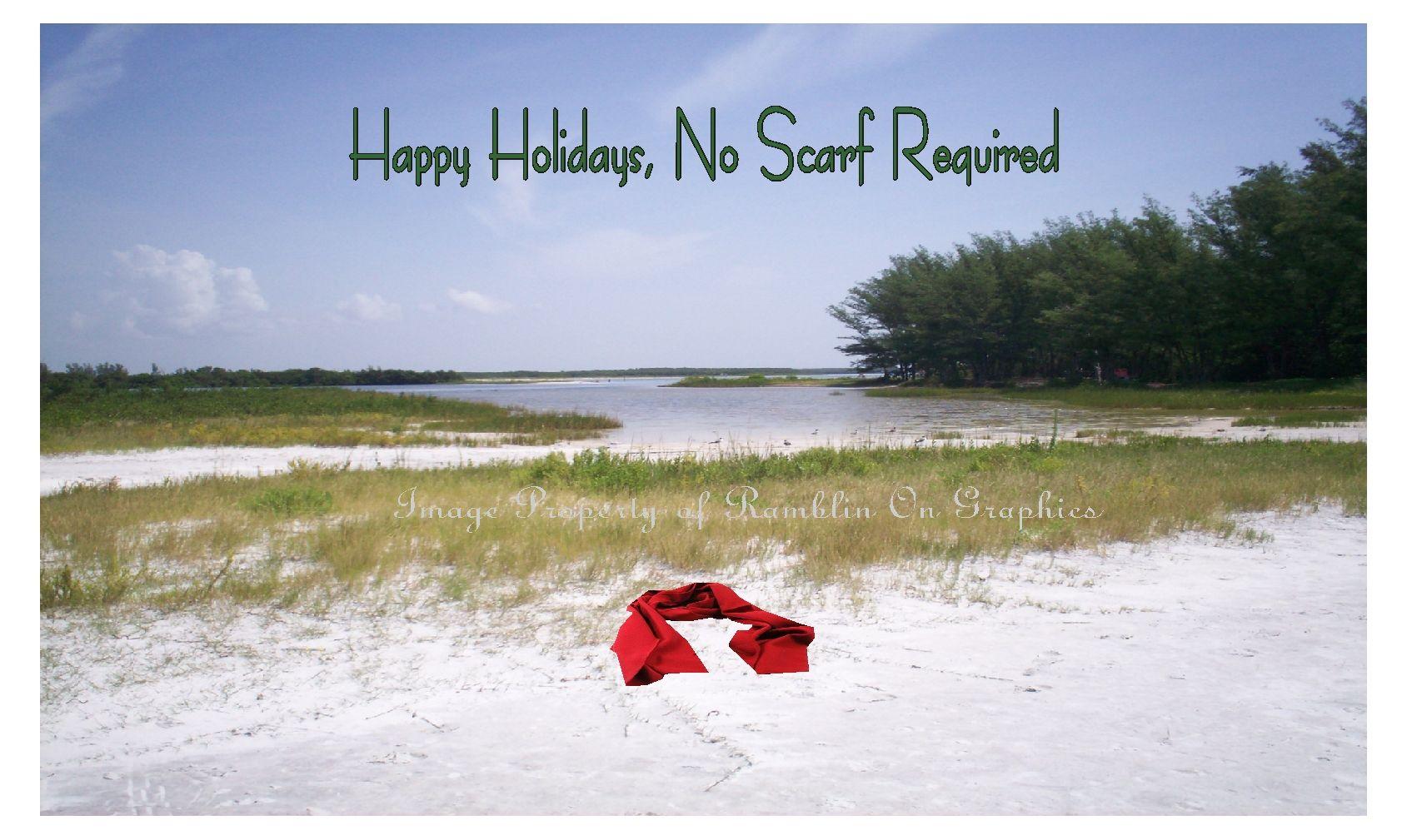 Christmas beach cards holiday happy holidays